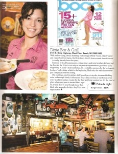 Dixie Grill - Boca Magazine Article